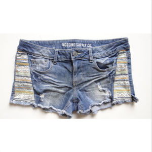 Mossimo Distressed Denim Jean Shorts